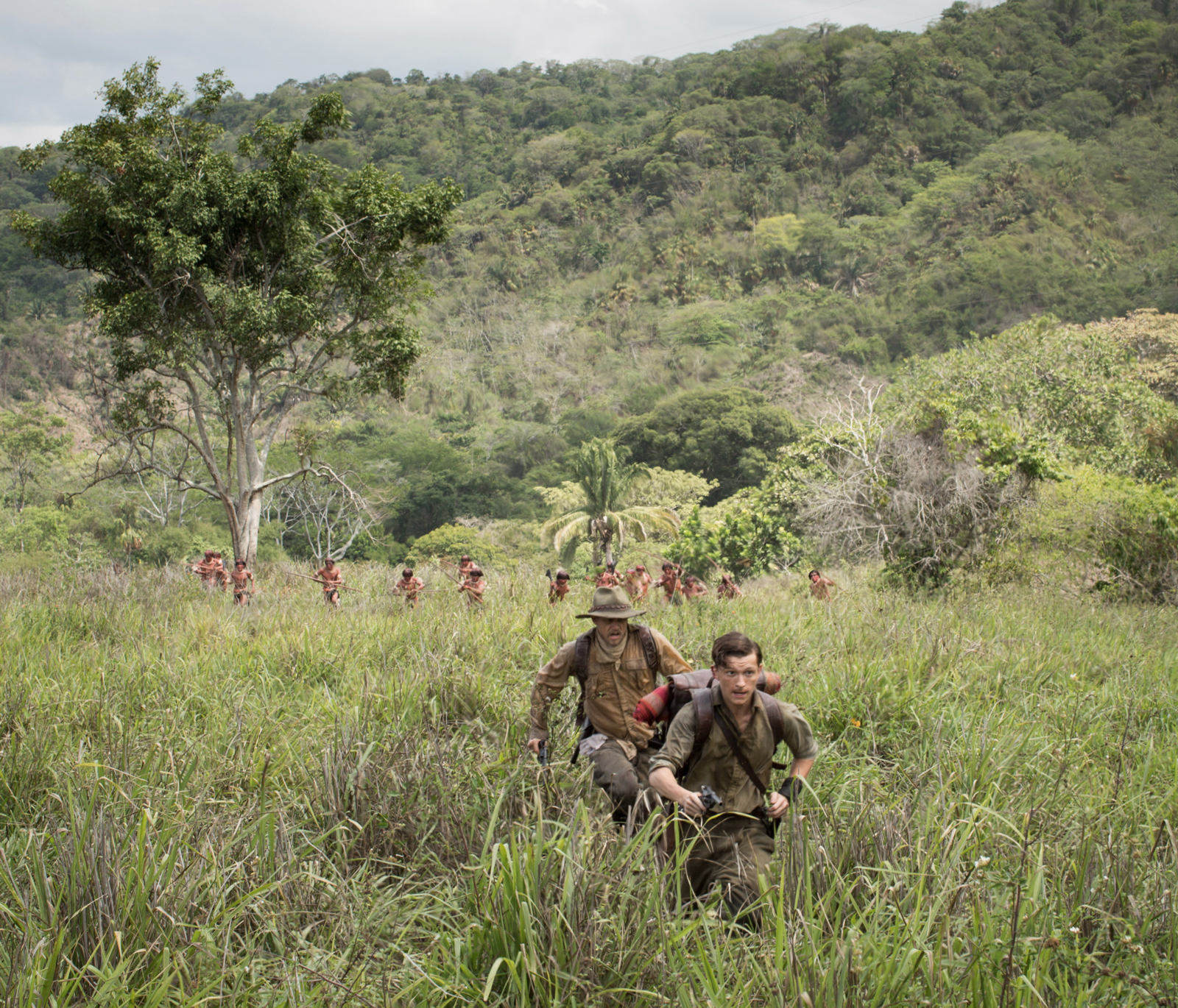 Charlie Hunnam as Percy Fawcett and Tom Holland as Jack Fawcett in James Gray's The Lost City of Z, 2016