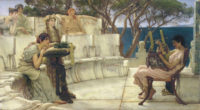 Lawrence Alma-Tadema: Sappho and Alcaeus, 1881