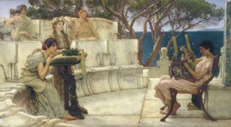 Lawrence Alma-Tadema: Sappho and Alcaeus, 1881