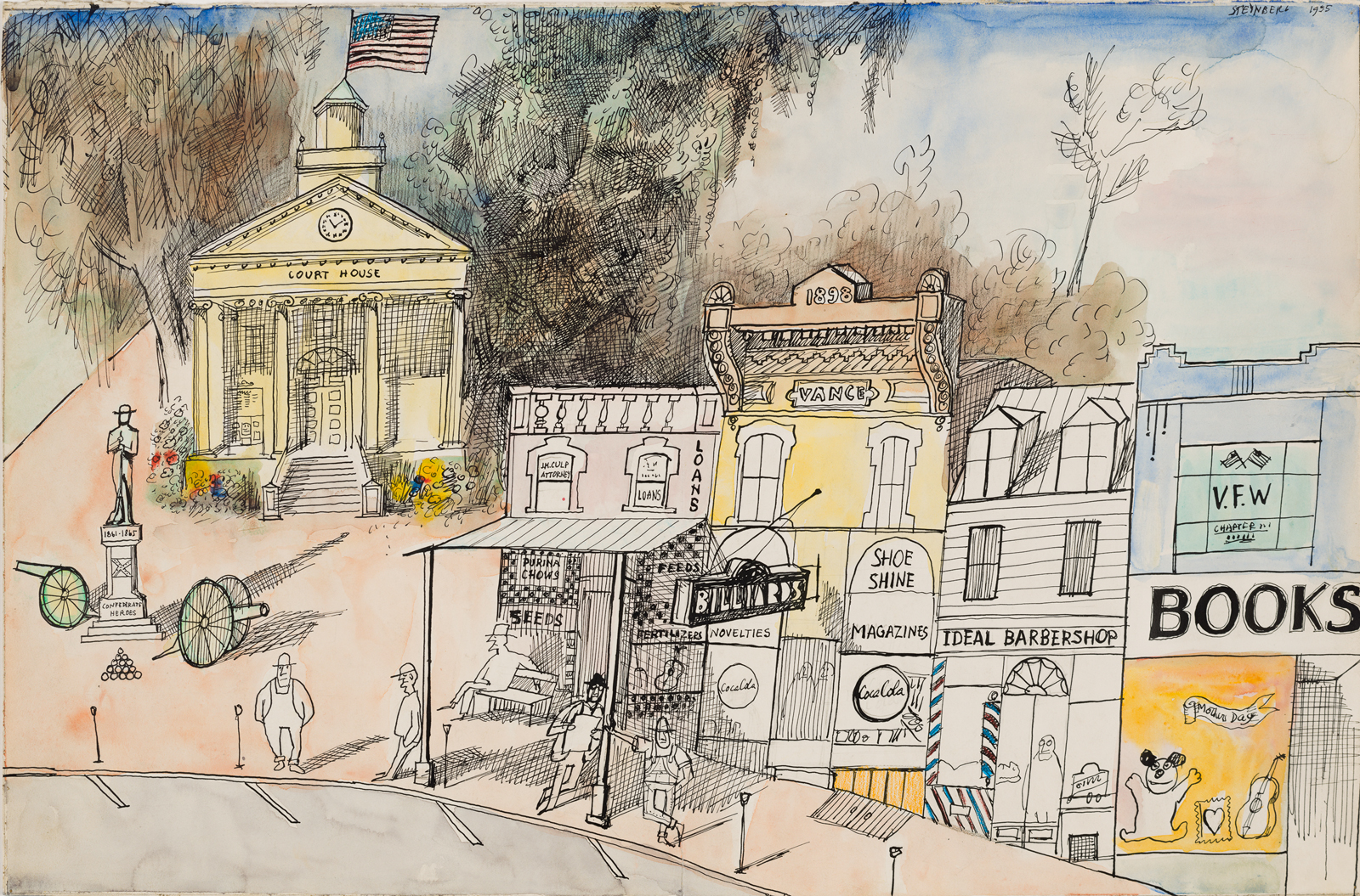 Saul Steinberg S View Of The World By Chris Ware Nyr