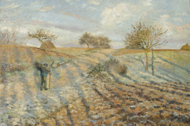 Camille Pissarro: <i>Hoar Frost (Gelée blanche à Ennery)</i>, 1873
