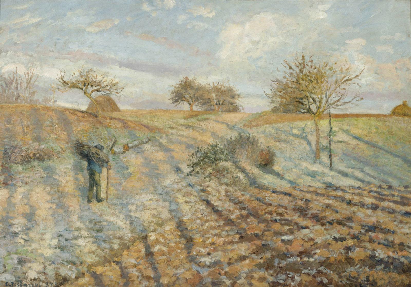 Camille Pissarro: Hoar Frost (Gelée blanche à Ennery), 1873