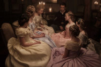 Nicole Kidman as Miss Martha, Colin Farrell as Corporal McBurney, Elle Fanning as Alicia, and others in Sofia Coppola's The Beguiled, 2017