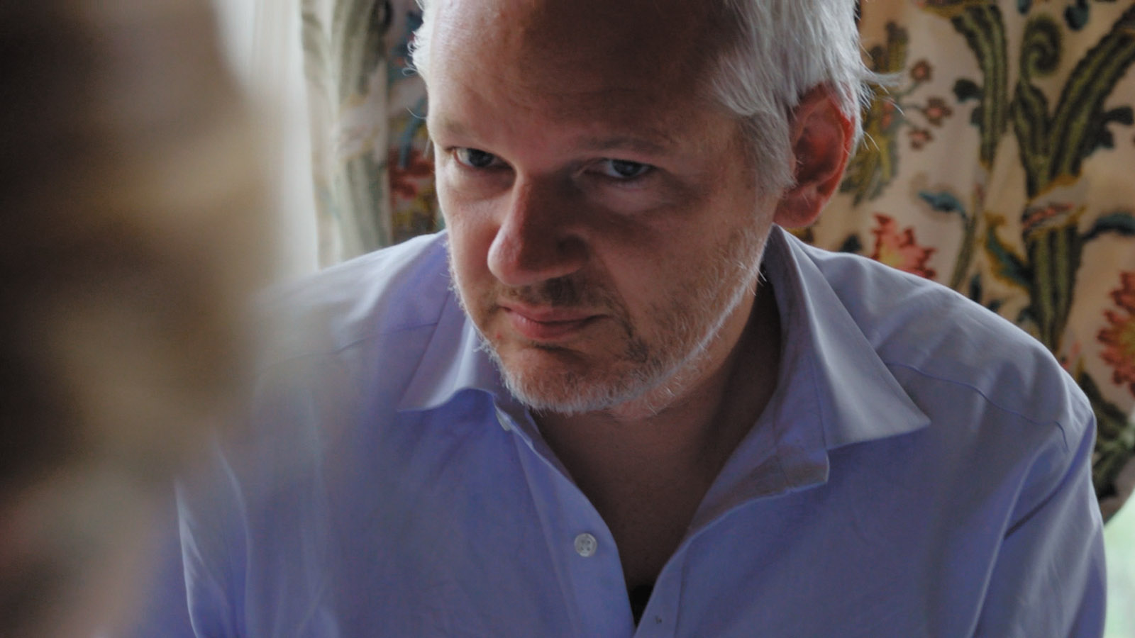 WikiLeaks founder Julian Assange in Laura Poitras's documentary film Risk