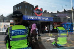 Finsbury Park underground station near the Finsbury Mosque where a man drove a van into a group of Muslims on Monday, London, June 20, 2017