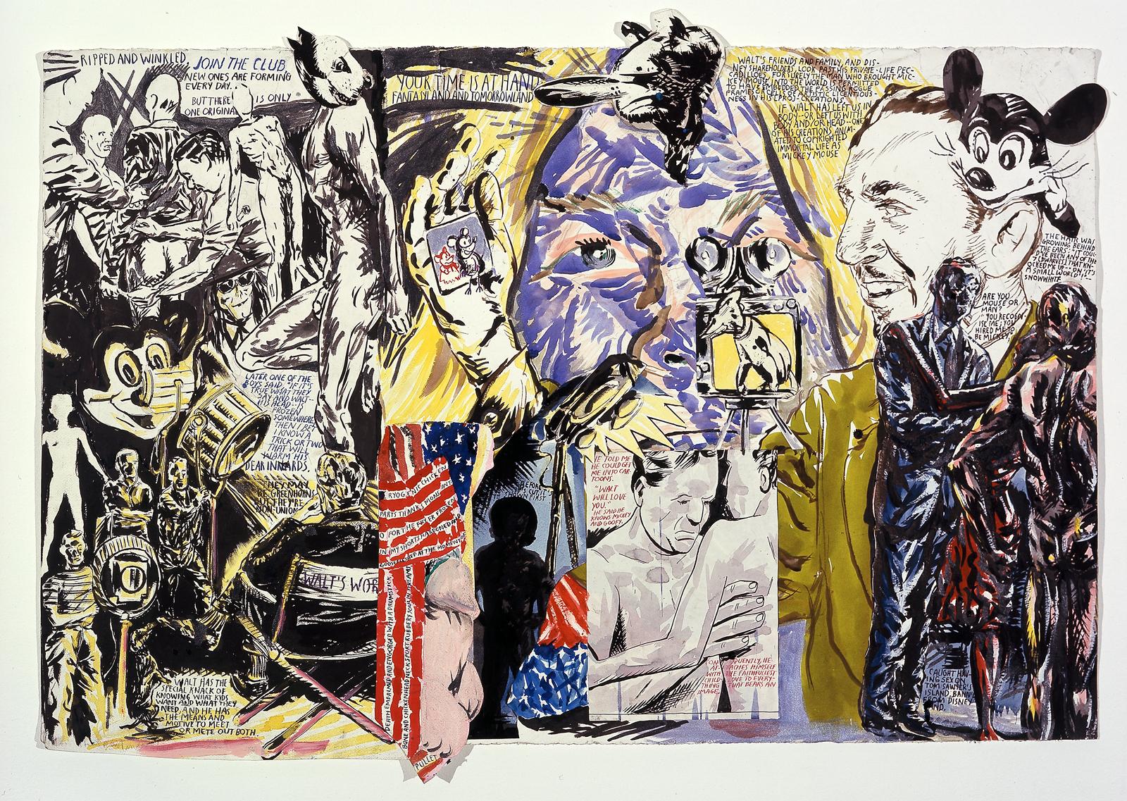 Raymond Pettibon: No Title (Ripped and wrinkled), 2008
