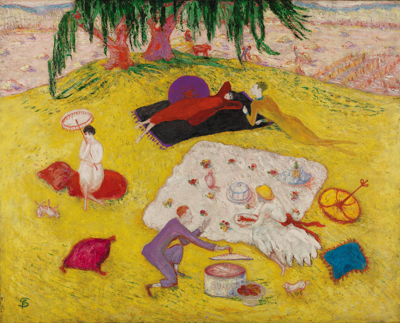 Florine Stettheimer: Picnic at Bedford Hills, 40 5/16 x 50 1/4 inches, 1918