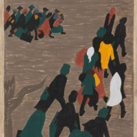 'The migration gained in momentum'; painting by Jacob Lawrence from his Migration series, 1940–1941