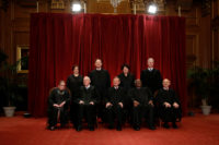 From top left: Justice Elena Kagan, Justice Samuel Alito, Justice Sonia Sotomayor, Justice Neil Gorsuch, Justice Ruth Bader Ginsburg, Justice Anthony Kennedy, Chief Justice John Roberts, Justice Clarence Thomas, Justice Stephen Breyer, Washington, D.C., June 1, 2017