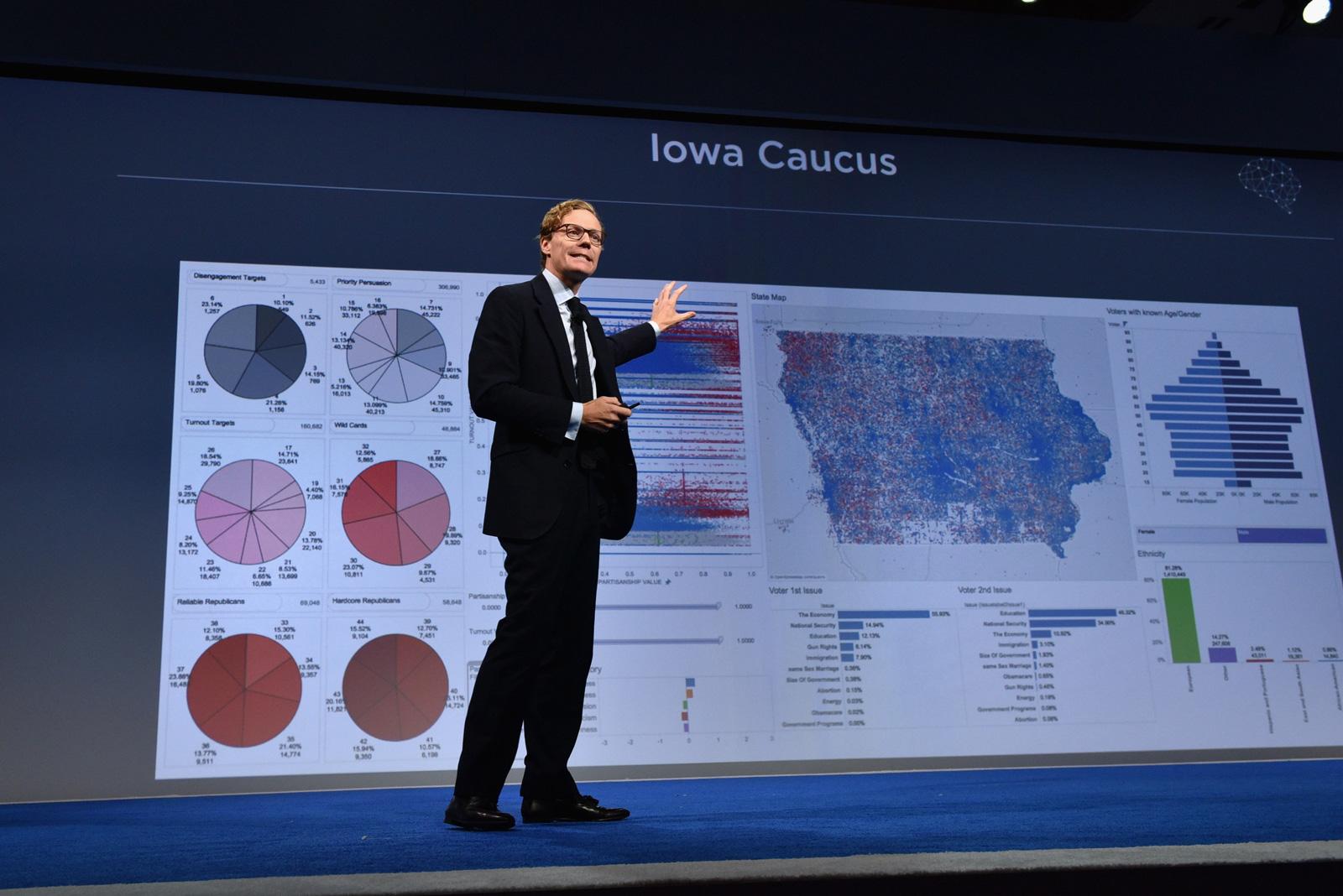 CEO of Cambridge Analytica Alexander Nix speaks at the 2016 Concordia Summit, New York City, September 19, 2016
