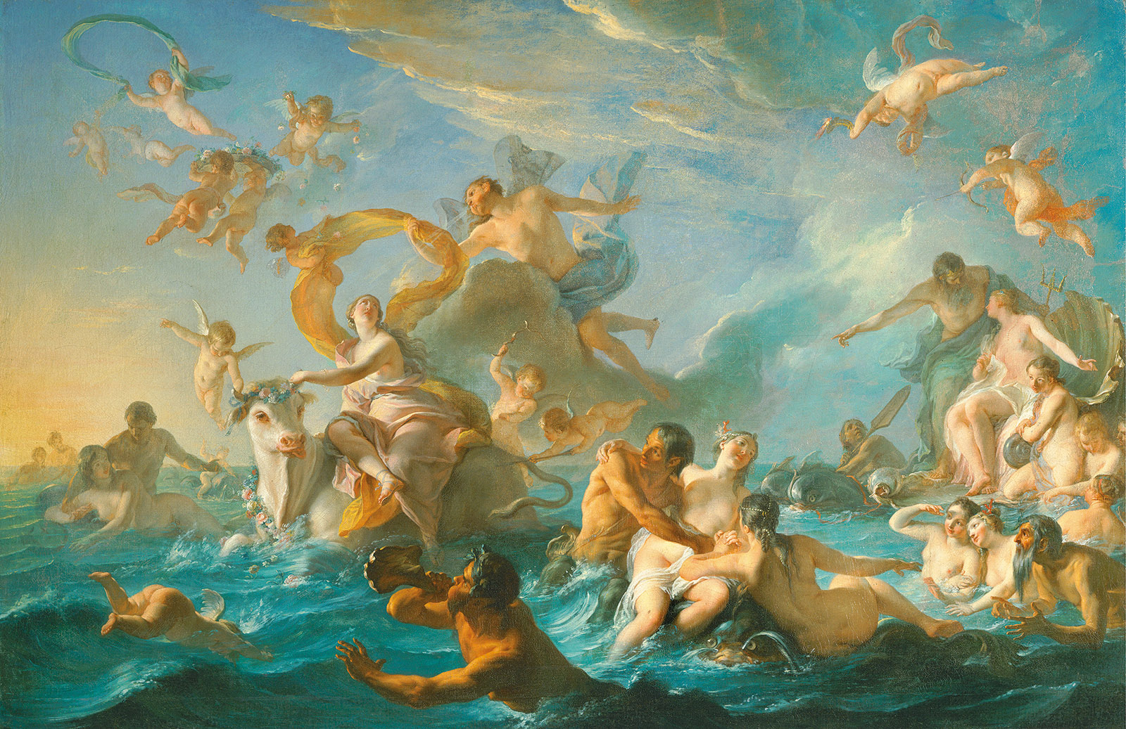Noël-Nicolas Coypel: The Abduction of Europa, 1726–1727