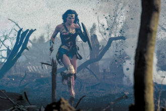 Gal Gadot in a scene from Patty Jenkins's Wonder Woman, 2017