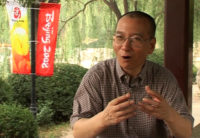 Liu Xiaobo at a park in Beijing, July 24, 2008