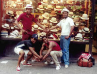 Jamel Shabazz: Street Photographers of Times Square Pose for a Photo during Some Down Time, Times Square, 1982