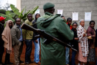 Kenyans waiting to vote in the presidential election, Gatundu, Kenya August 8, 2017