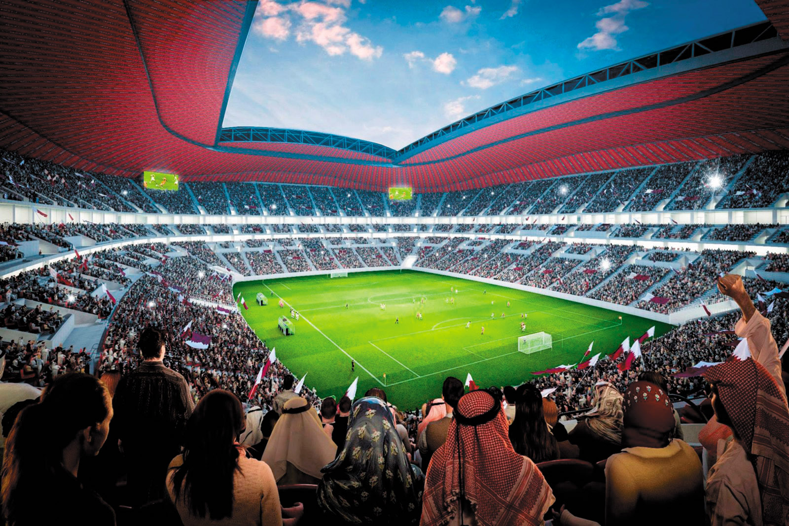 A rendering of Al Bayt Stadium, to be built in Al Khor, Qatar, for the 2022 World Cup