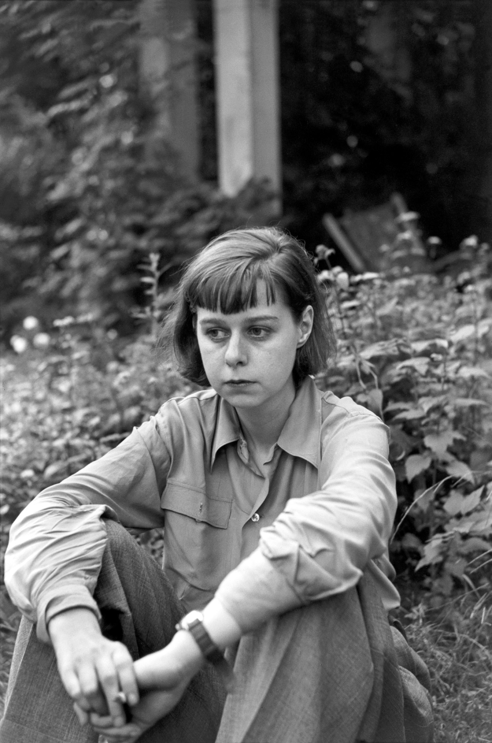Carson McCullers, Nyack, New York, 1947; photograph by Henri Cartier-Bresson