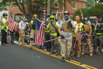 A right-wing militia group, Charlottesville, Virginia, August 12, 2017