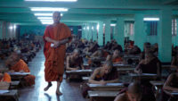 Ashin Wirathu and his followers in Barbet Schroeder's The Venerable W., 2017