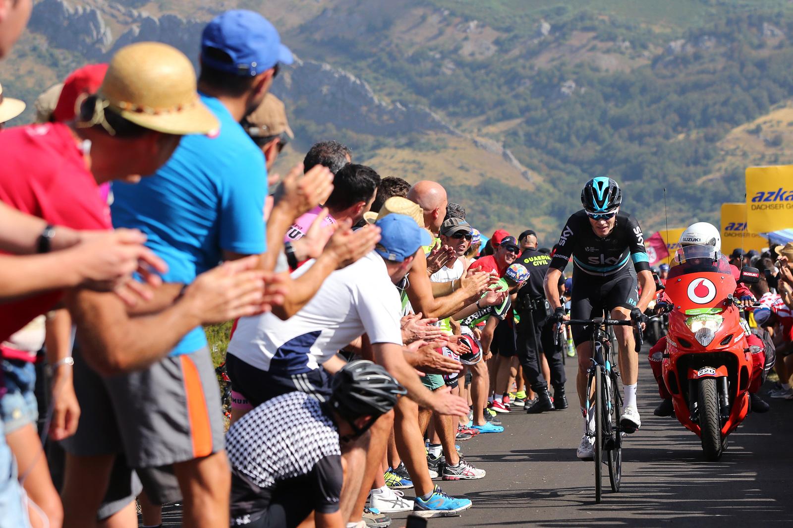 Chris Froome during the Vuelta a España race, August 27, 2016