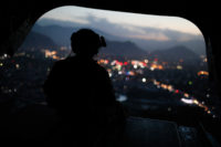 The view from a helicopter carrying US Secretary of Defense James Mattis, Kabul, April 24, 2017