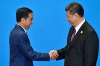 Indonesian President Joko Widodo and Chinese President Xi Jinping, Yanqi Lake, China, May 15, 2017