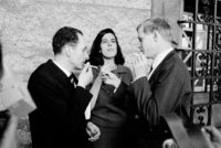 Walter Höllerer, Susan Sontag, and Hans Magnus Enzensberger, Princeton University, April 1966