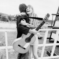 Joni Mitchell and Leonard Cohen at the Newport Folk Festival, July 1967