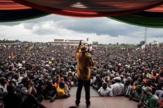 Opposition candidate Raila Odinga at a rally in Kisumu, Kenya, October 20, 2017
