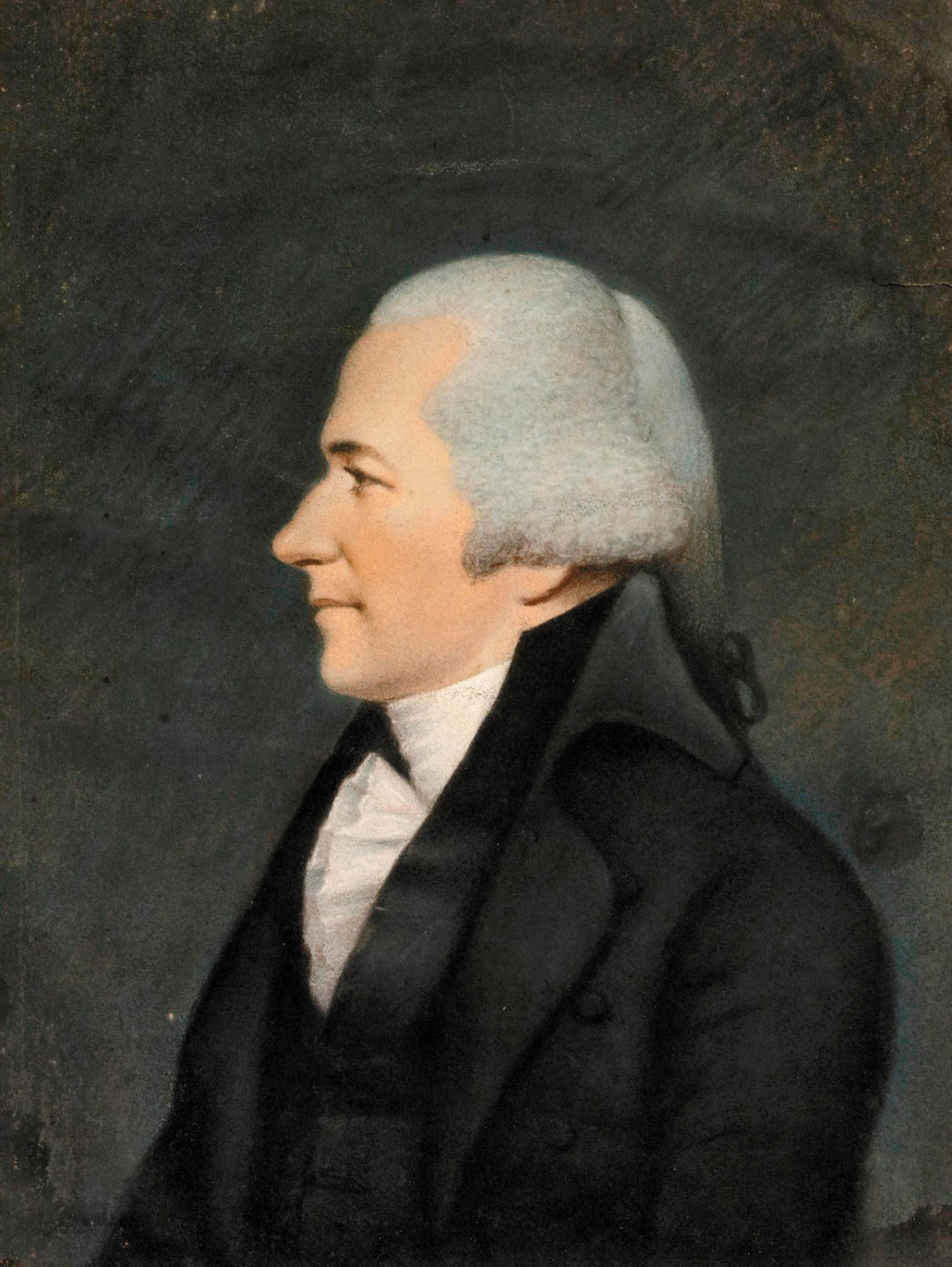 Alexander Hamilton; portrait by James Sharples, circa 1796
