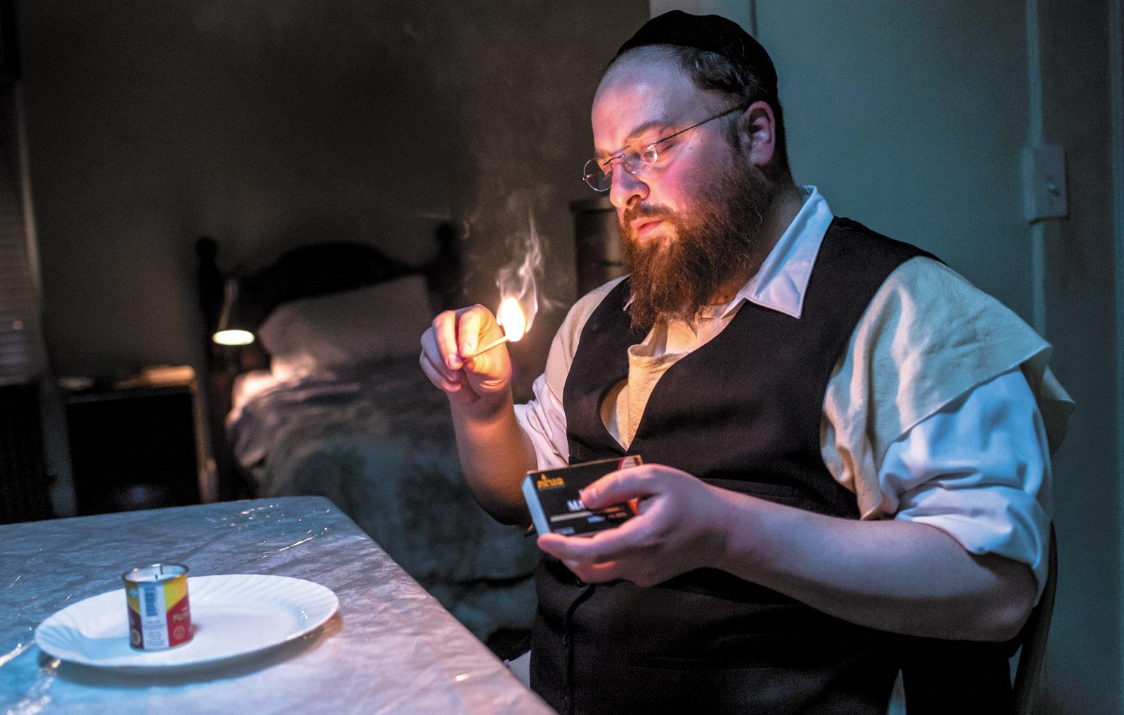 Menashe Lustig in Joshua Z. Weinstein's film Menashe