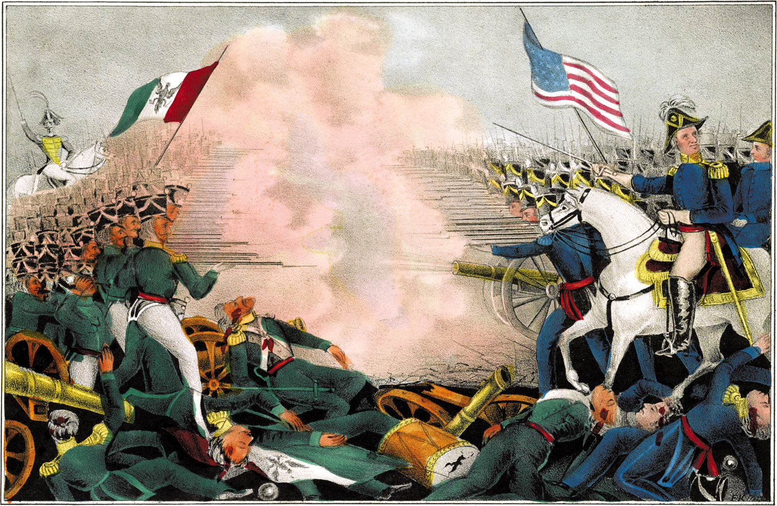 The Battle of Buena Vista, also known as the Battle of La Angostura, during the Mexican-American War, February 1847