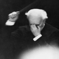 Arturo Toscanini conducting his last concert with the NBC Symphony Orchestra, April 1954