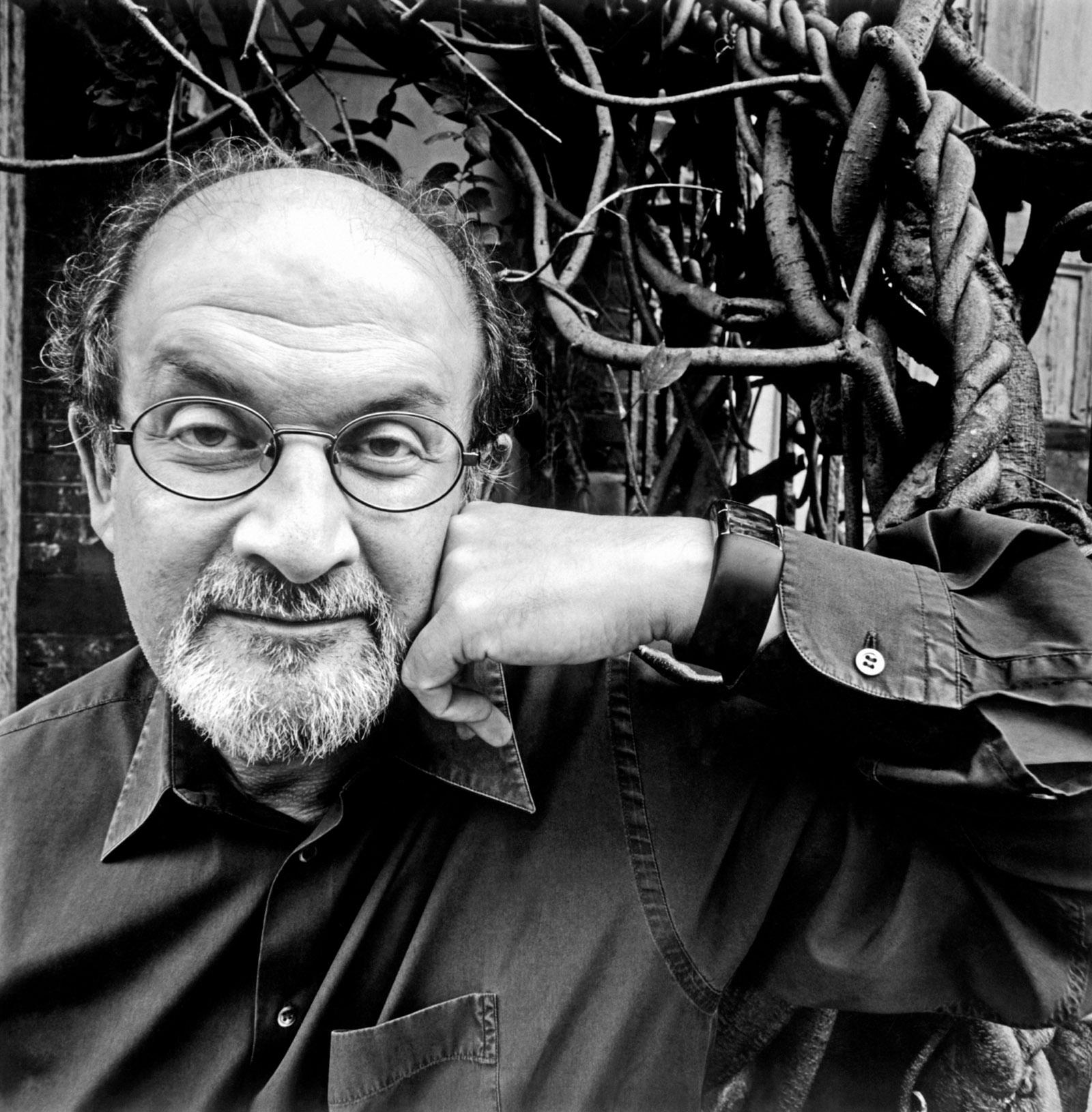 Salman Rushdie, New York City, 2005; photograph by Bruce Davidson