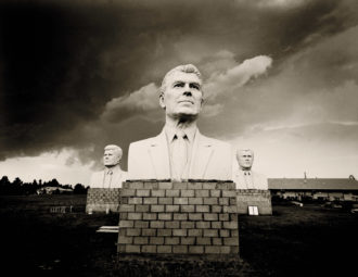'Presidents,' South Dakota, 2005; photograph by Jack Spencer from his book This Land: An American Portrait. It includes a foreword by Jon Meacham and is published by University of Texas Press.