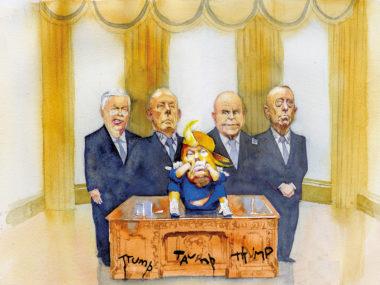 Donald Trump, Rex Tillerson, John Kelly, H.R. McMaster, James Mattis