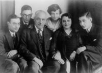 Natasha Walter's great-grandparents, Mathias and Clementine Stein, with their children in Hamburg, Germany, late 1920s. The Steins died in the Holocaust in 1942; their children, including Walter's grandmother Eva (center), survived.