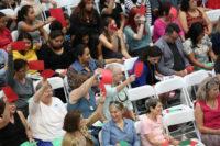 People attending a bilingual healthcare town hall, Phoenix, Arizona, July 5, 2017