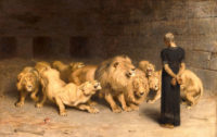 Briton Rivière: Daniel in the Lions' Den, 1872