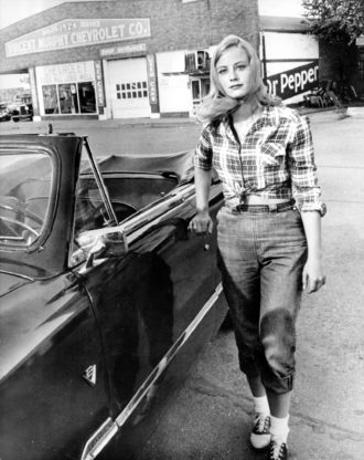 Cybill Shepherd in Peter Bogdanovich's film adaptation of Larry McMurtry's novel The Last Picture Show, 1971