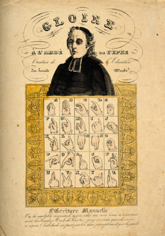 The Abbé de l'Épée, who founded a school for the deaf in Paris in 1755 and was the first to recognize that they could be taught with sign language