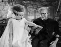 Elsa Lanchester and Boris Karloff in The Bride of Frankenstein, directed by James Whale, 1935