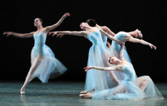 Dancers of the New York City Ballet performing George Balanchine's Serenade at the Mariinsky Theatre, St. Petersburg, Russia, July 2003