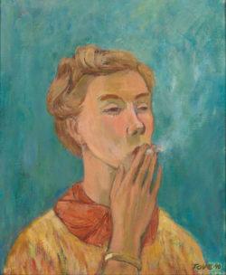 Tove Jansson: Smoking Girl (Self-Portrait), 1940