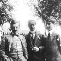 Leo Popper, Karl Polanyi, and Michael Polanyi, circa 1908