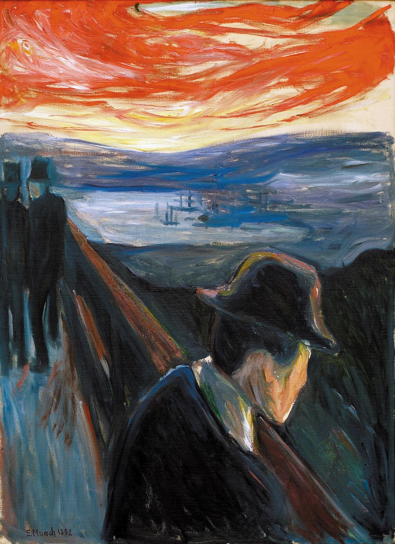 Edvard Munch: Sick Mood at Sunset: Despair, 1892