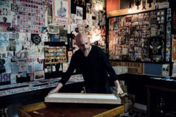 Vincent Sardon in his studio, 2017; click to enlarge