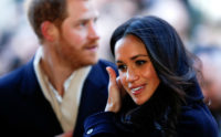 Prince Harry and his fiancée Meghan Markle in Nottingham, England, December 1, 2017