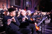 A performance of David Lang's Symphony for a Broken Orchestra, the 23rd Street Armory, Philadelphia, December 3, 2017