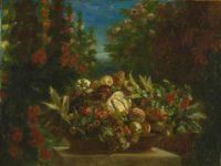 Eugène Delacroix: Basket of Flowers and Fruit, 1849